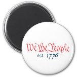Nosotros la gente est. 1776 imán para frigorifico