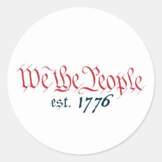 Nosotros la gente est. 1776 etiqueta redonda