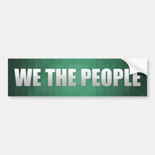 Nosotros la gente etiqueta de parachoque