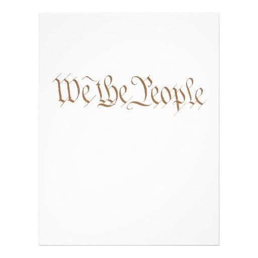"""Nosotros la gente folleto 8.5"""" x 11"""""""