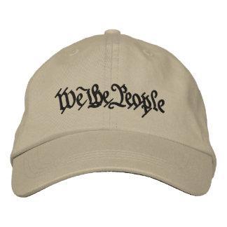 Nosotros la gente gorras bordadas