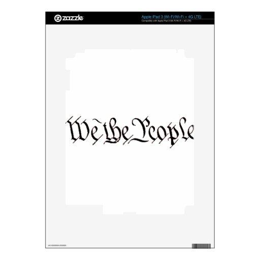 Nosotros la gente iPad 3 pegatina skin