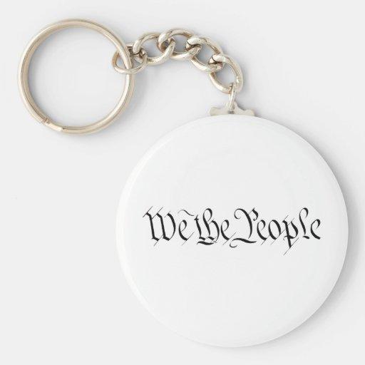 Nosotros la gente llaveros personalizados