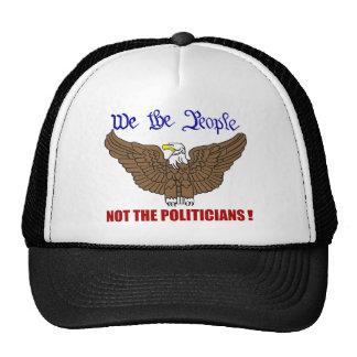 Nosotros la gente no los políticos gorros