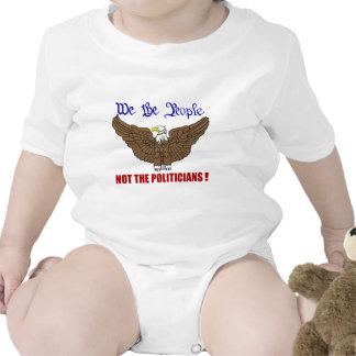 Nosotros la gente no los políticos trajes de bebé