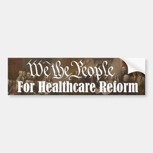 Nosotros la gente para la reforma de la atención s etiqueta de parachoque