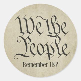 ¡Nosotros la gente! Etiqueta Redonda