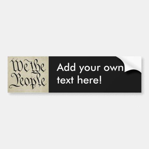 ¡Nosotros la gente! Pegatina Para Auto