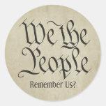 ¡Nosotros la gente! Pegatina Redonda