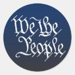 Nosotros la gente pegatinas redondas