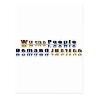 ~ nosotros la gente, * simplemente demanda tarjetas postales
