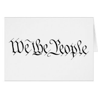 Nosotros la gente tarjeta de felicitación