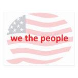 Nosotros la gente tarjetas postales
