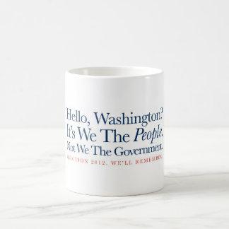 Nosotros la gente taza de café