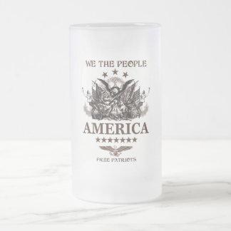 ¡Nosotros la gente! Taza De Cristal