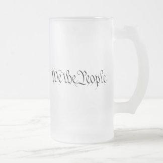 Nosotros la gente taza de cristal