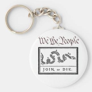Nosotros la gente… Únase a o muera Llavero Redondo Tipo Pin