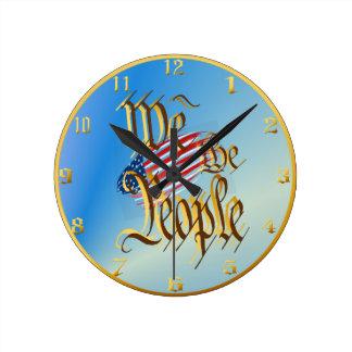 Nosotros la gente Wallclock Reloj Redondo Mediano