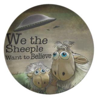 Nosotros la placa de Sheeple Platos Para Fiestas