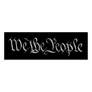 Nosotros la tarjeta blanca del perfil de la gente tarjetas personales