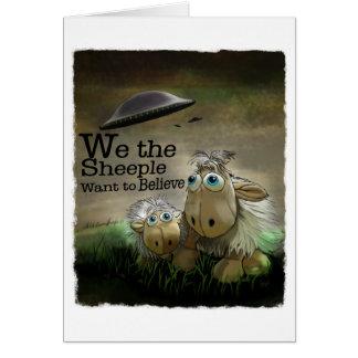 Nosotros la tarjeta de Sheeple