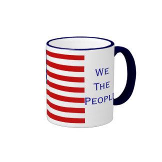 Nosotros la taza americana de la bandera de la