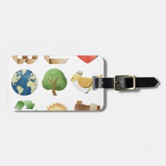 Nosotros natural holístico de la nueva edad del co etiquetas de maletas