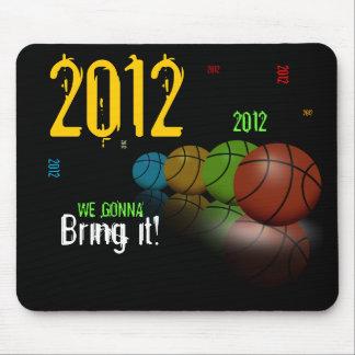 Nosotros que van a traerle 2012 baloncesto Mousepa Tapete De Ratón