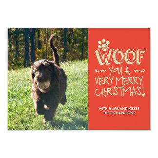 Nosotros tejido usted Felices Navidad Invitación 12,7 X 17,8 Cm
