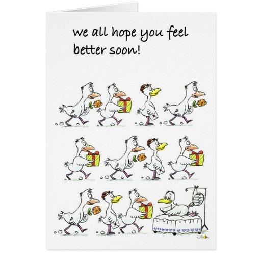 ¡Nosotros toda la esperanza que usted siente mejor Tarjeta De Felicitación