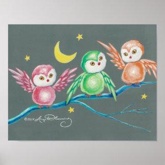 Nosotros tres búhos póster