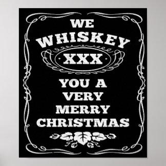 Nosotros whisky usted un poster de las Felices Nav