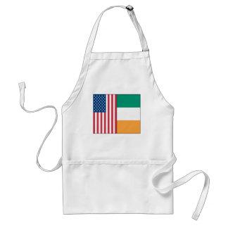 Nosotros y banderas de Irlanda Delantal