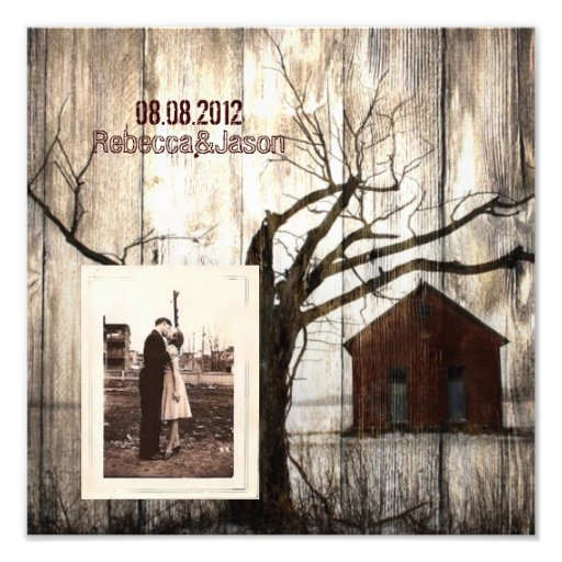 nostalgia barnwood western country anniversary photo print