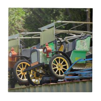 Nostalgia de Gibtown Azulejo Cuadrado Pequeño