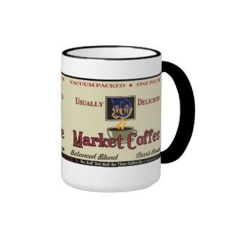 Nostalgia de la marca del café del mercado taza de dos colores