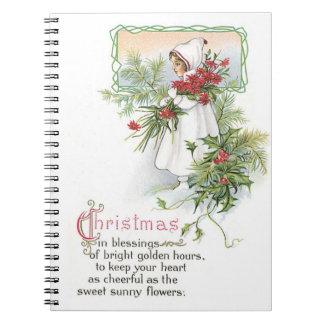 Nostalgia de los días de fiesta del navidad del notebook