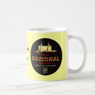 Nostalgia de lujo del viaje del HOTEL NACIONAL DE  Taza De Café