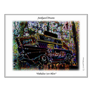 Nostalgia Fabulous Fifties 57 Belair Chevy Sign Postcard