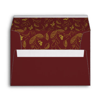 Nostalgia | Fall Wedding A7 Lined Envelope