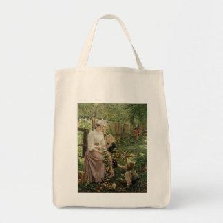 Nostalgia Grocery Tote Bags