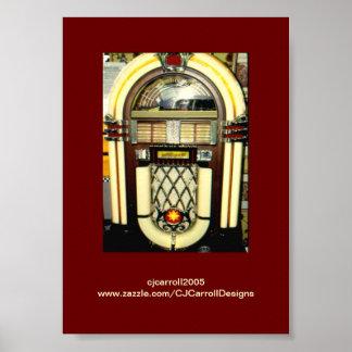 Nostalgia Juke Box Photo-Print-Poster Poster