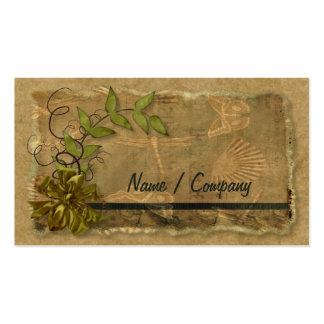 Nostalgia natural tarjetas de visita