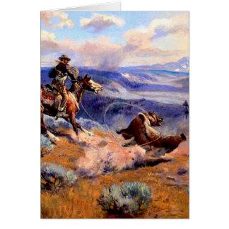 Nostalgia occidental tarjeta de felicitación