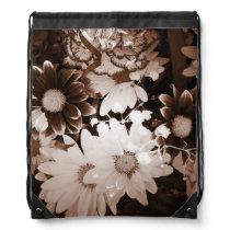 nostalgia western country wildflower summer daisy drawstring bag