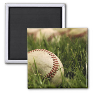 Nostalgic Baseballs 2 Inch Square Magnet
