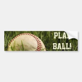Nostalgic Baseballs Bumper Sticker