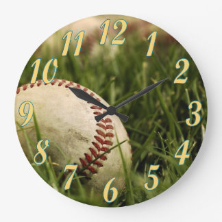 Nostalgic Baseballs Large Clock
