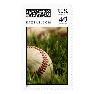 Nostalgic Baseballs Postage Stamps