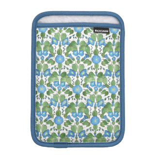 Nostalgic Blue Morning Glory iPad Mini Sleeve